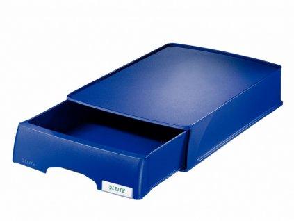 Odkladač Leitz Plus vysouvací modrý
