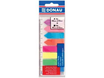 Plastové záložky Donau velké 8 barev