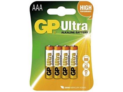 Alkalické baterie GP Ultra AAA 4ks