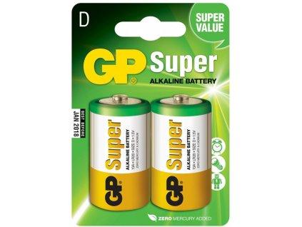 Alkalické baterie GP Super D 2ks