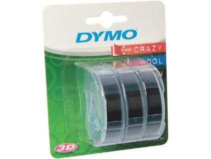 DYMO páska 3D černá 3ks 9mm/3m