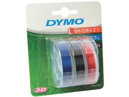 DYMO páska 3D barevný mix 3ks 9mm/3m