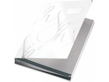 Designová podpisová kniha Leitz bílá