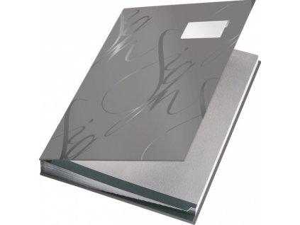 Designová podpisová kniha Leitz šedá