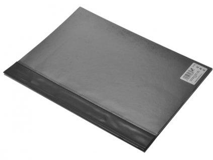 PVC rychlovazač A4 s přední kapsou černý