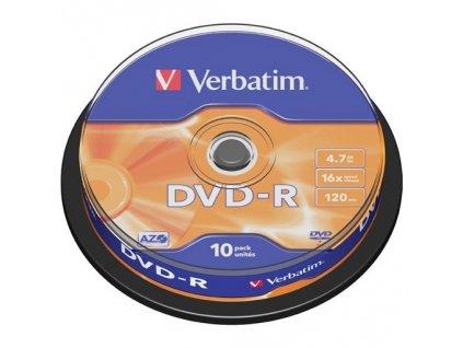 DVD-R Verbatim 4,7GB/16x 10-pack