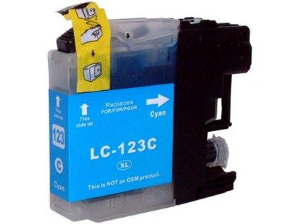 Kompatibilní inkoust Brother LC123C modrý