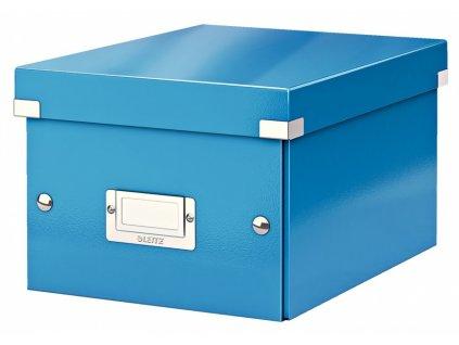 Krabice s víkem Leitz Click&Store WOW S modrá