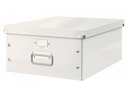 Krabice s víkem Leitz Click&Store WOW L bílá