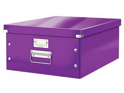 Krabice s víkem Leitz Click&Store WOW L fialová