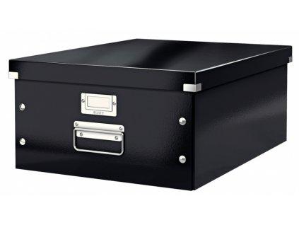 Krabice s víkem Leitz Click&Store WOW L černá