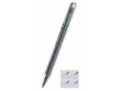 Kuličkové pero Concorde Classic 4v1 stříbrné