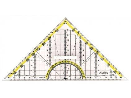 Pravítko trojúhelník s držadlem 45/177