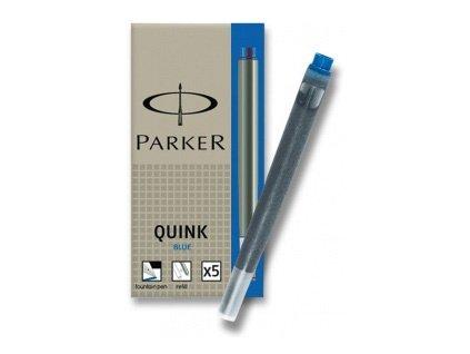 Inkoustová bombička Parker modrá omyvatelná