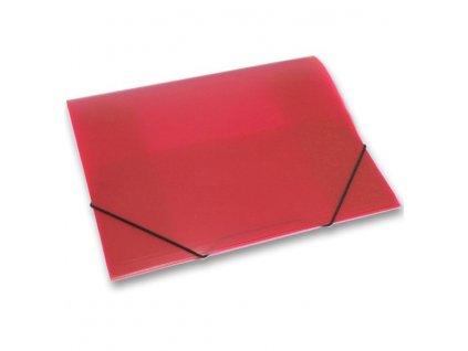 Deska s gumou Diagonal A4 transparentní červená