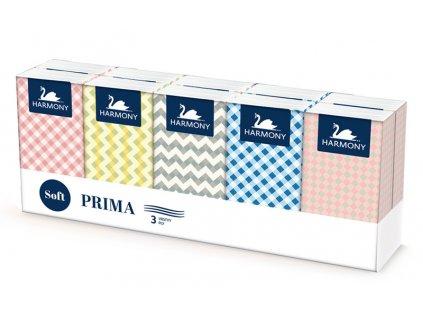 Hygienické kapesníčky HARMONY PRIMA SOFT 10ks