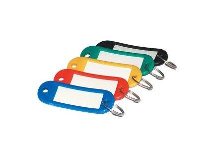 Jmenovka na klíče mix barev 100ks