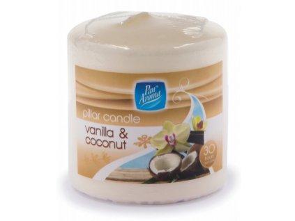 Svíčka rustikální vanilka + kokos 6,7cm