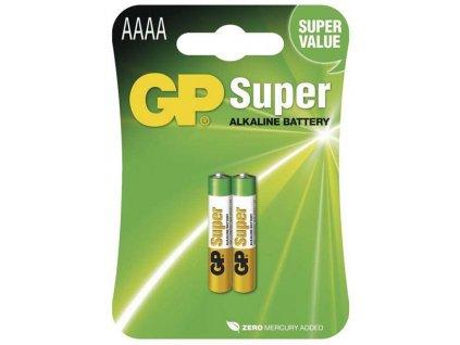 Alkalické baterie GP Super AAAA 2ks