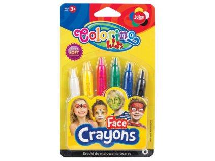 Barvy na obličej Colorino 6 barev
