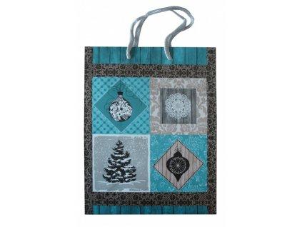 Dárková taška vánoční 18x23cm