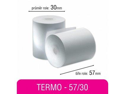Pokladní kotouček TERMO 57/30mm/bez dutinky