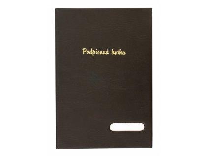 Podpisová kniha A4 černá