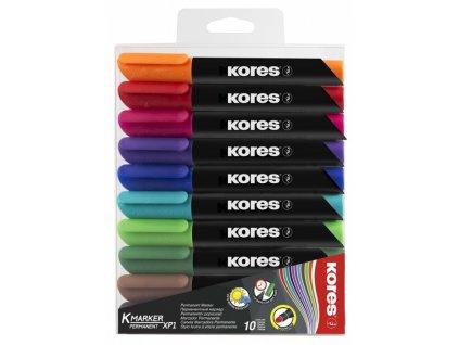 Kores Permanent 3mm 10 barev