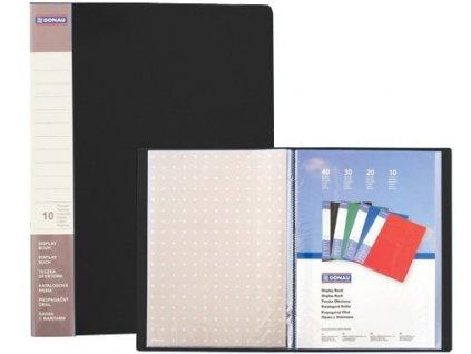 Katalogová kniha Donau PP A4 10 kapes černá