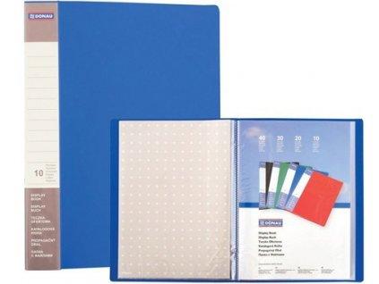 Katalogová kniha Donau PP A4 10 kapes modrá