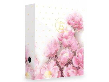 Pákový pořadač A4 70mm Romantic magnolie