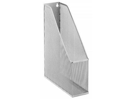 Drátěný stojan na časopisy stříbrný