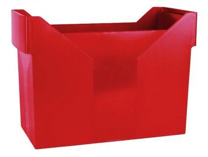 DONAU zásobník na závěsné desky červený
