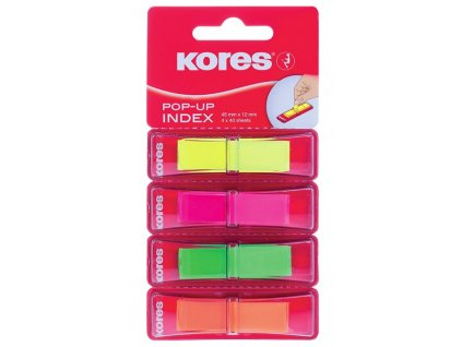Plastové záložky Kores Pop-up 4 barvy