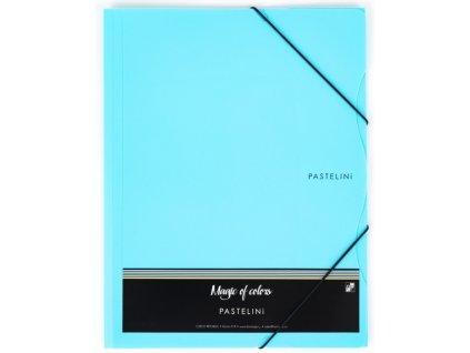 Desky s gumou Pastelini A4 PP modrá