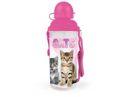 Láhev na pití 650 ml Kočka