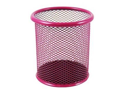 Stojánek kovový drátěný růžový