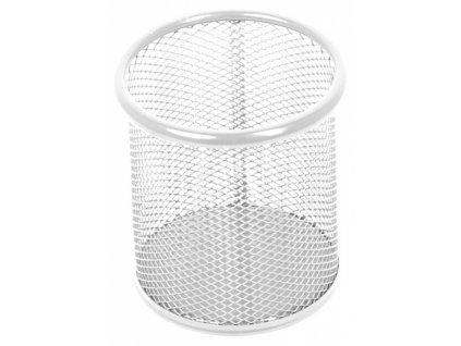 Stojánek kovový drátěný perleťově bílý