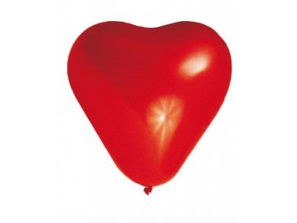Balónky SRDCE červené 100ks