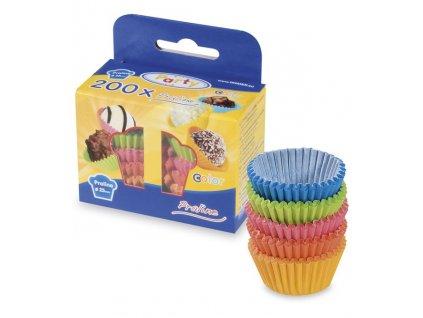 Cukrářské košíčky 24x19mm barevné 200ks