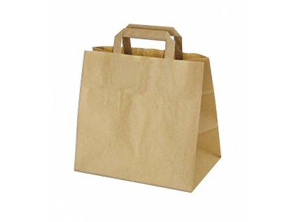 Papírová taška hnědá 26x17x25cm