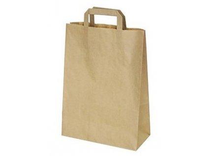 Dárková papírová taška hnědá 22x10x28cm