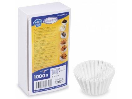 Cukrářské košíčky 20x19mm bílé 1000ks