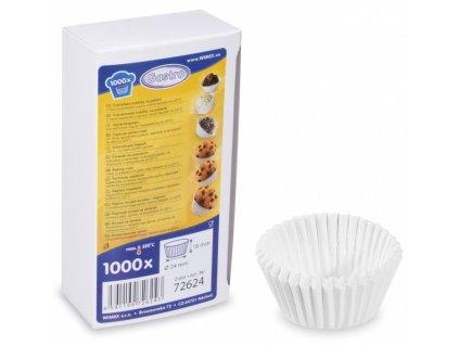Cukrářské košíčky 24x18mm bílé 1000ks