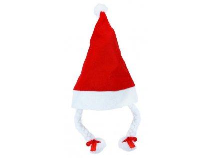 Čepice vánoční s copy