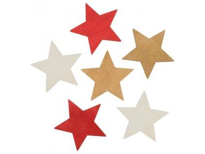 Dekorace vánoční - Hvězdy 6ks