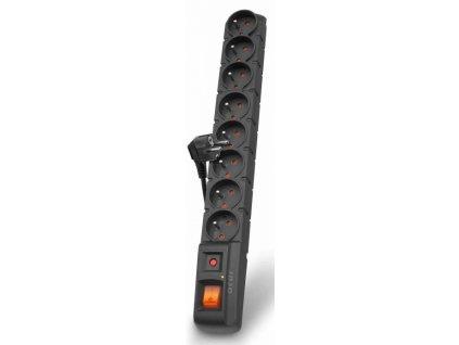 Kabel prodlužovací 5m 8 zásuvek s přepěťovou ochra