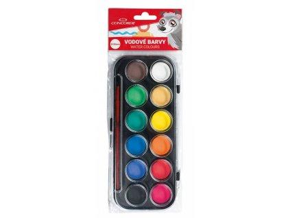 Vodové barvy CONCORDE 12 barev