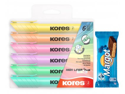 AKCE Kores High Liner Plus Pastel 6ks