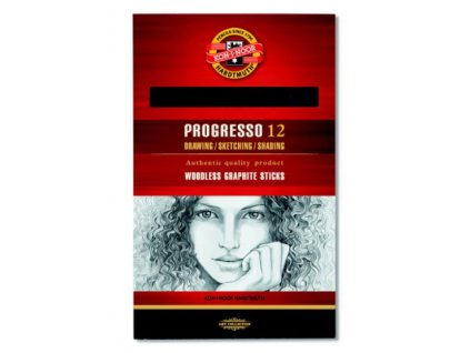 Pastelky Koh-i-Noor Progresso 8911 černé